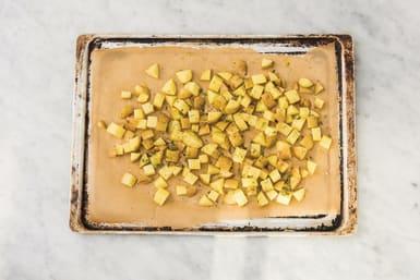 Roast the rosemary potatoes