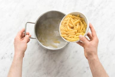 Boil Pasta and Make Mint Pesto