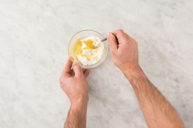 Make the zesty yoghurt