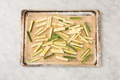 Bake the zucchini