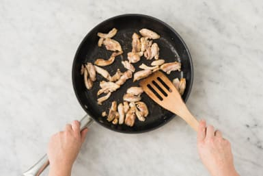 Preheat Broiler and Cook Chicken