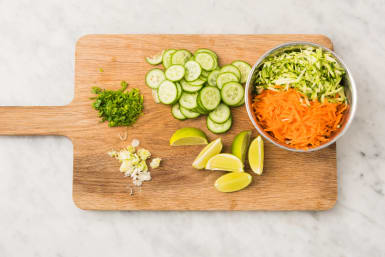 Gemüse reiben