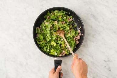 Cook Bok Choy and Rice