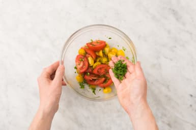 Tomatensalat zubereiten