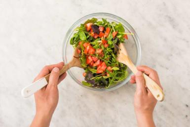 Toast Buns and Toss Salad