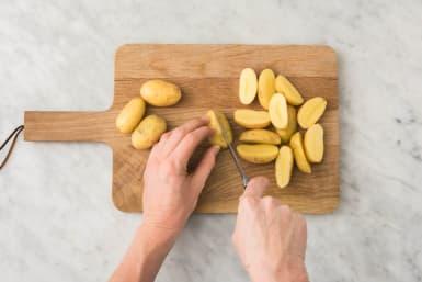 Boil Potatoes and Prep