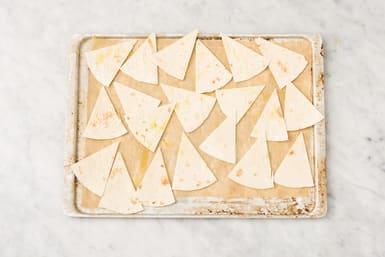 Bake the tortilla chips