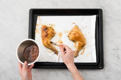 Make Sauce and Glaze Chicken