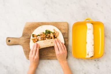 Assemble Enchiladas