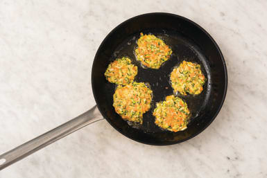 Cook the fritters