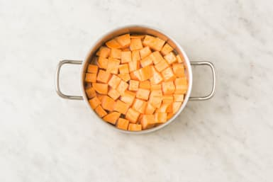 1 BOIL SWEET POTATOES