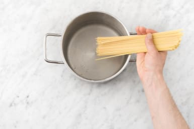 Cook Pasta and Prep