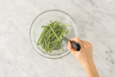 Cook Green Beans and Finish Glaze