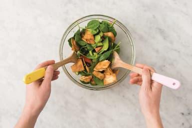 Make the greek pita salad
