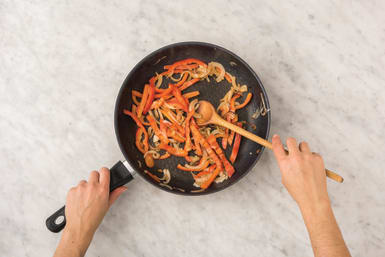 Caramelise veggies