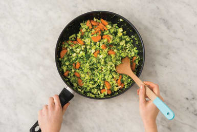 Cook the broccoli & carrot