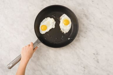COOK THE EGGS