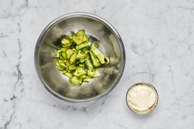 Marinate Zucchini and Make Aioli