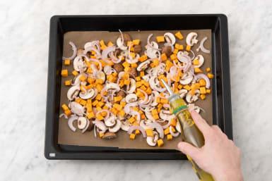 Cuire les légumes au four