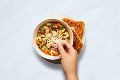 Make Garlic Toast and Serve Dinner