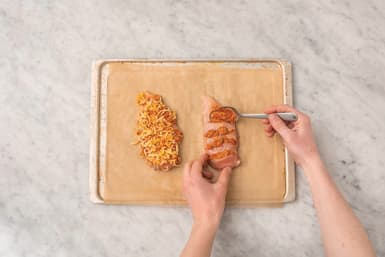 PREP THE HASSELBACK CHICKEN