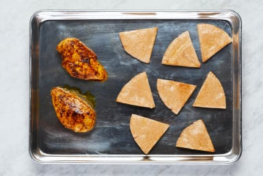 Cook Chicken and Pitas