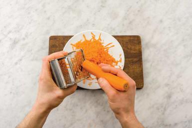 Grate carrot