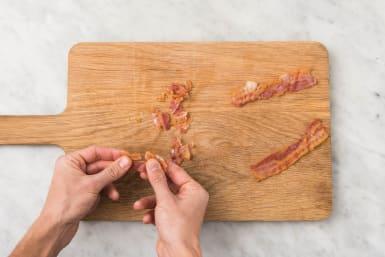 Snijden en spek bakken