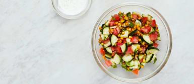 Make Salad and Crema