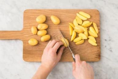 Aardappelen snijden