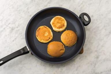 Heat the burger buns