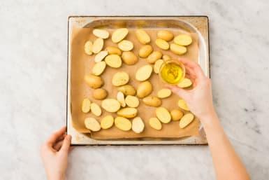 Aardappels bakken