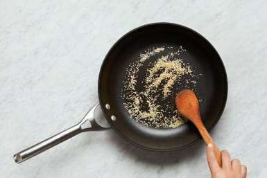Cook Noodles and Toast Sesame Seeds