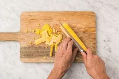 Maiskolf snijden