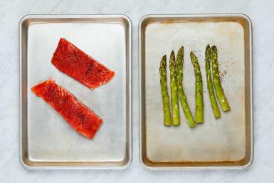 Season Asparagus and Trout