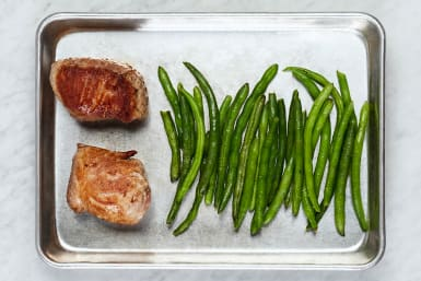 Roast Green Beans and Pork