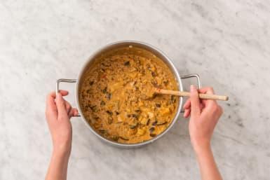 Låt curryn sjuda