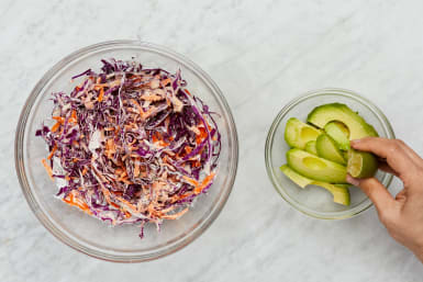 Make Slaw and Avocado Salad