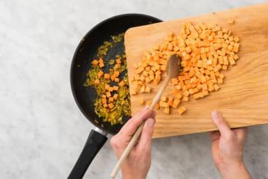 Zoete aardappel bakken