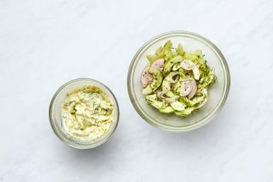 Make Cucumber Salad and Tzatiki