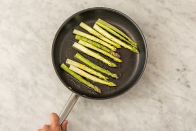 Cook the asparagus