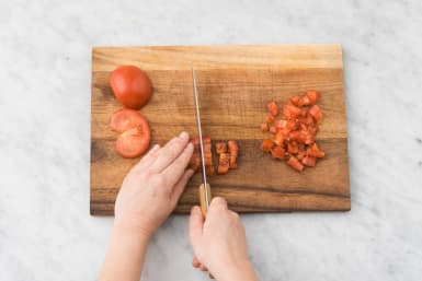 Tomatensalsa marinieren