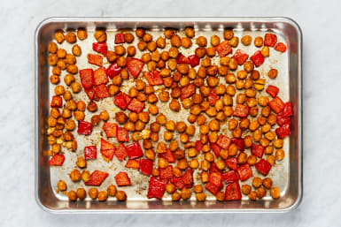 Roast Bell Pepper and Chickpeas