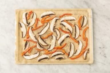 Skiva paprika & svamp