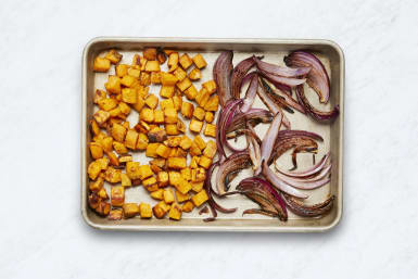 Roast Sweet Potatoes and Onion