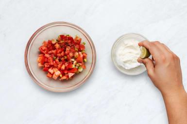 Make Pico de Gallo and Crema