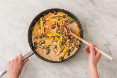 Stir-Fry-Gemüse anbraten