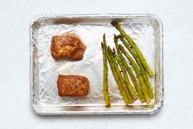 Roast Pork and Asparagus