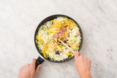 Rijst bakken