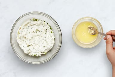 Mix Ricotta and Make Garlic Butter